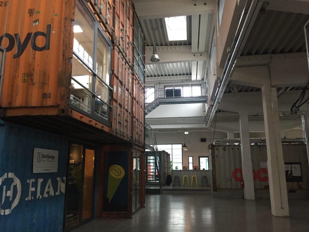 Container im Gründerzentrum Perfekt Futur